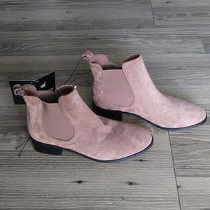 NWT forever 21 beige suede ankle booties
